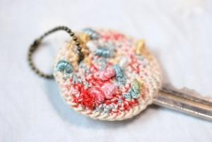 レース編みキーケース(マルチカラー)